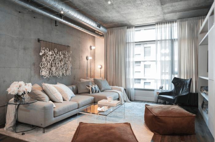wohnzimmer lampe modernes wohnzimmer mit industriellen leuchten