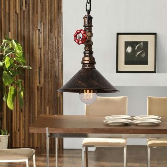 wohnzimmer lampe rustikale industrielle hängelampe