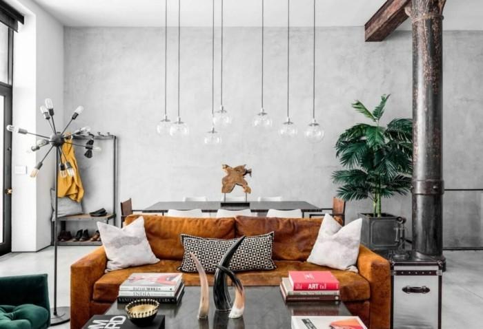 wohnzimmerlampe industrielle hängelampen haben eigenartigen look