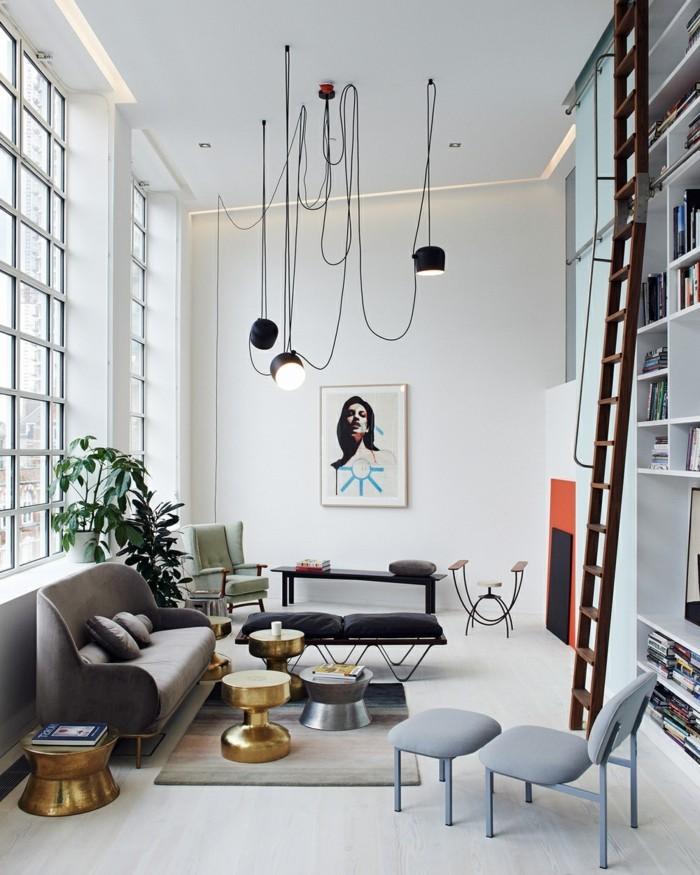 wohnzimmerlampe moderne industrielle hängelampen