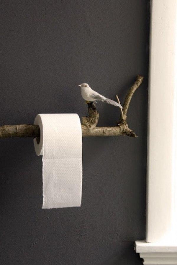 zweig toilettenpapierhalter selber machen