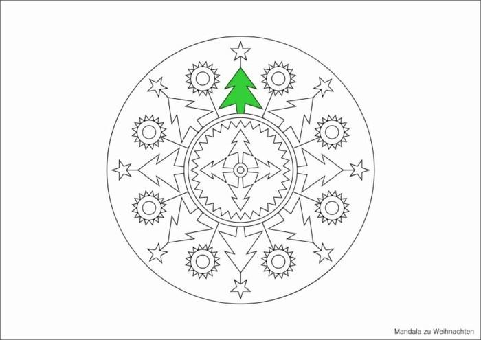 mandala zu weihnachten ausmalbilder weihnachten tannenzweig