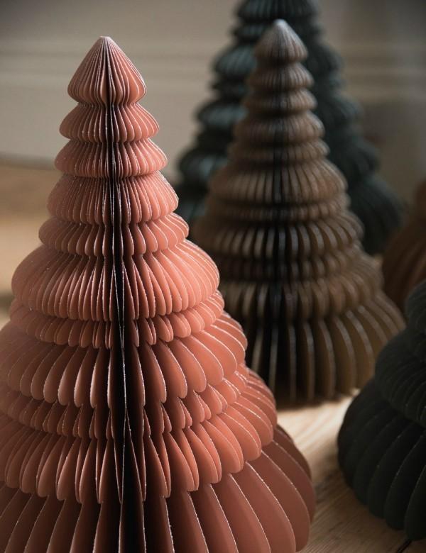3D Tannenbäume basteln mit Papier