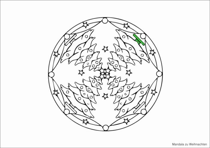 mandala zu weihnachten ausmalbilder weihnachten tannenbaum