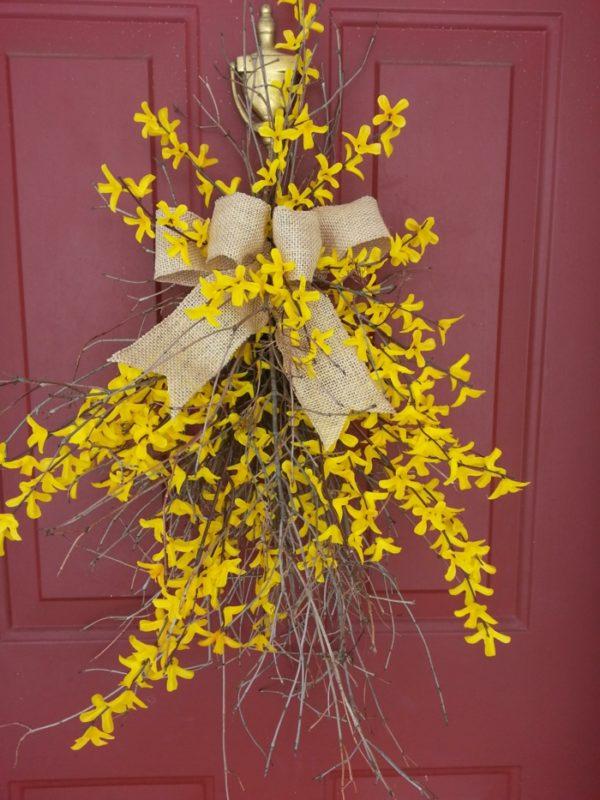 Baum Zweige mit gelben Blüten selber machen