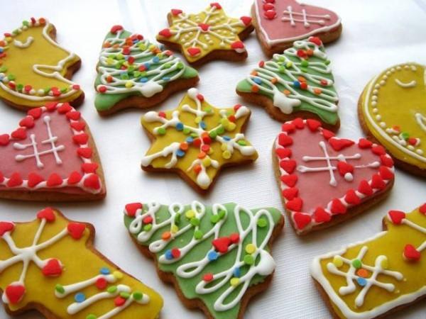 Bunte Tannenbäume Sterne Herzen Weihnachten Rezept