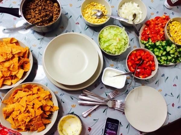 Chips Gemüsesalate