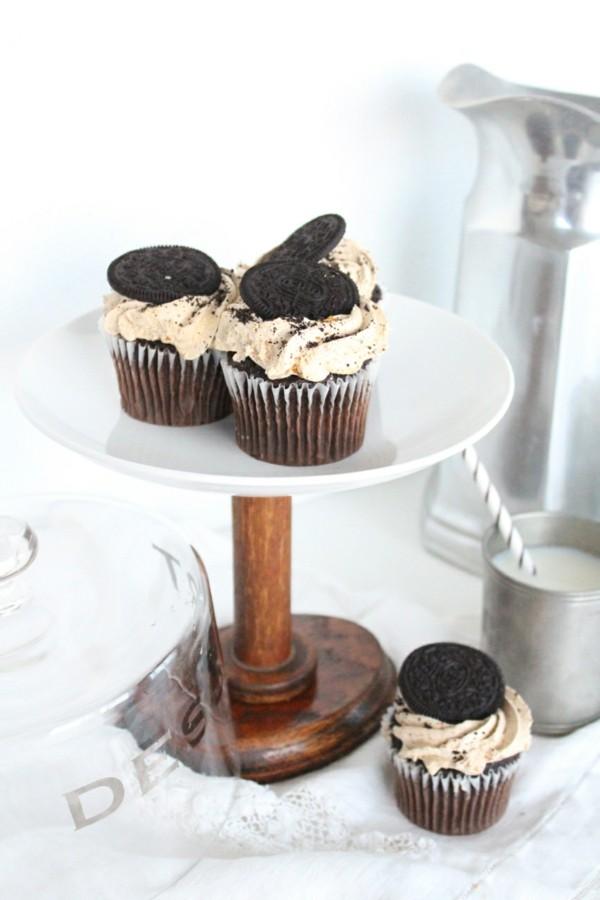 Cupcake Etagere holz und Teller