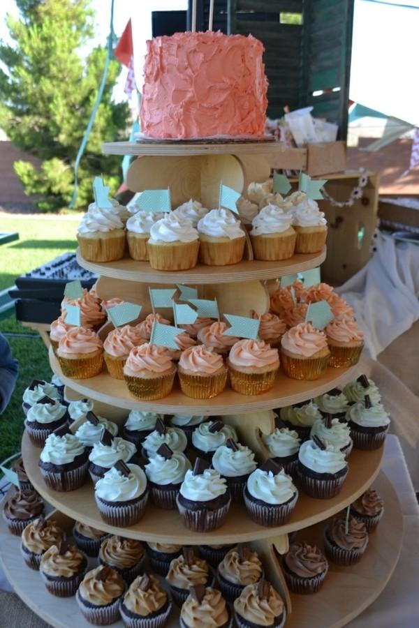 Cupcake Etagere mehrere Niveaus Holz
