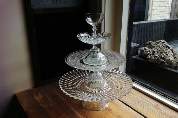 Cupcake Etagere selber bauen Glas