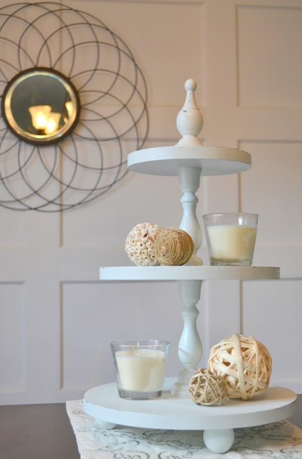 Cupcake Etagere selber bauen hellblau