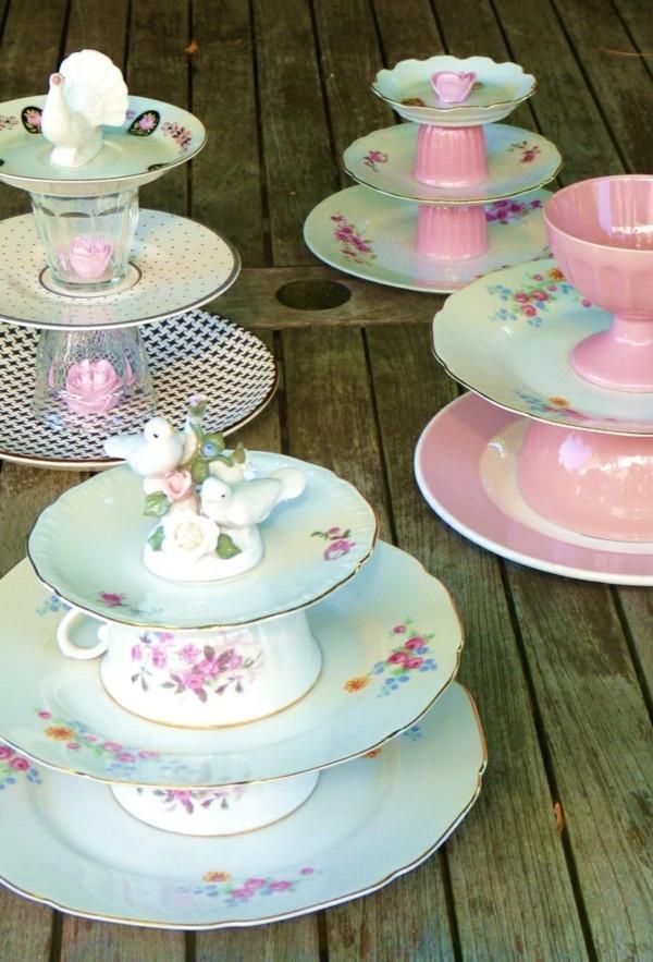 Cupcake Etageren aus Vintage Geschirr
