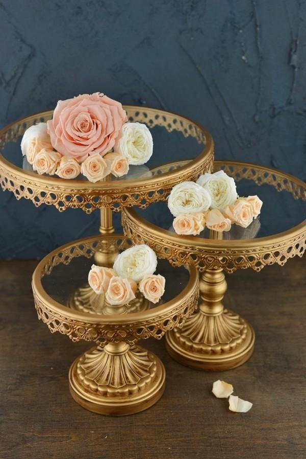 Cupcake und Tortenständer metall und Glas