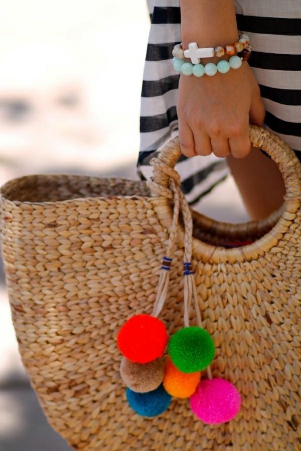 DIY Deko für sommerliche Handtasche
