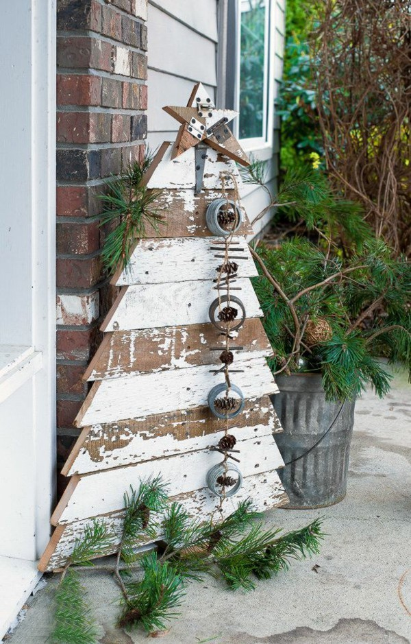 DIY Tannenbaun Aus Brettern Rustikale Weihnachtsdeko ...