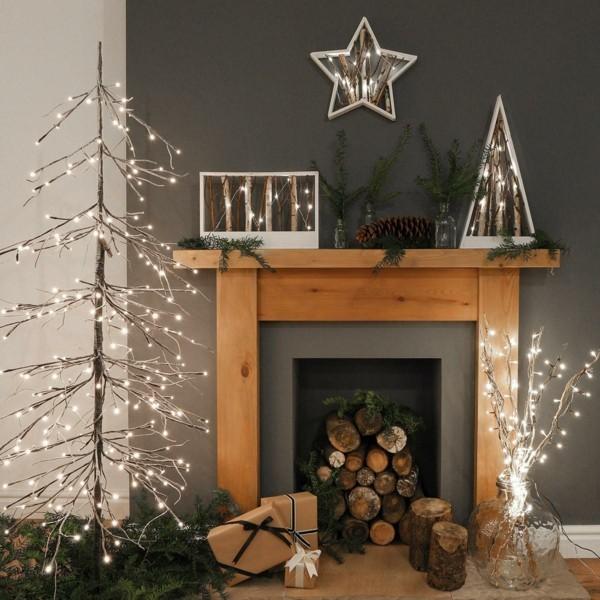 DIY Weihnachtsdeko für den Kamin