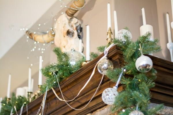 Dezente Weihnachtsdeko für edler Innenraum