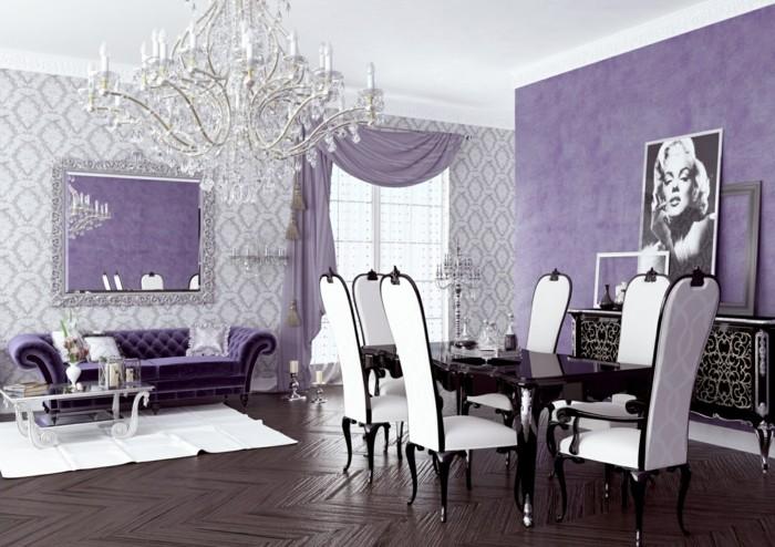 Die Farbe Lila esszimmer einrichten schicke möbel