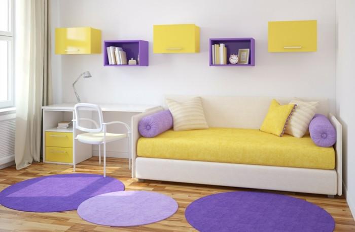 Die Farbe Lila gelb lila kombinieren