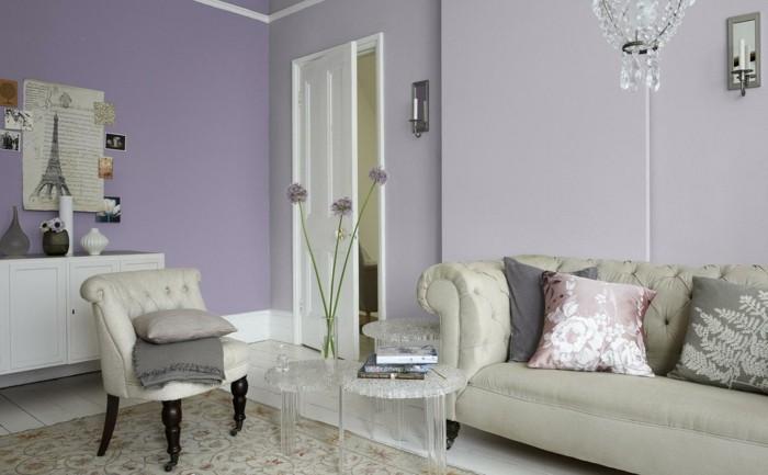 Die Farbe Lila helle nuancen wohnzimmer