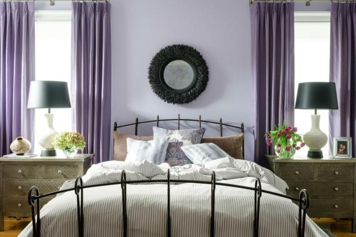 Farbige W Nde Im Schlafzimmer die farbe lila in der modernen einrichtung 59 beispiele für gelungene interieurs