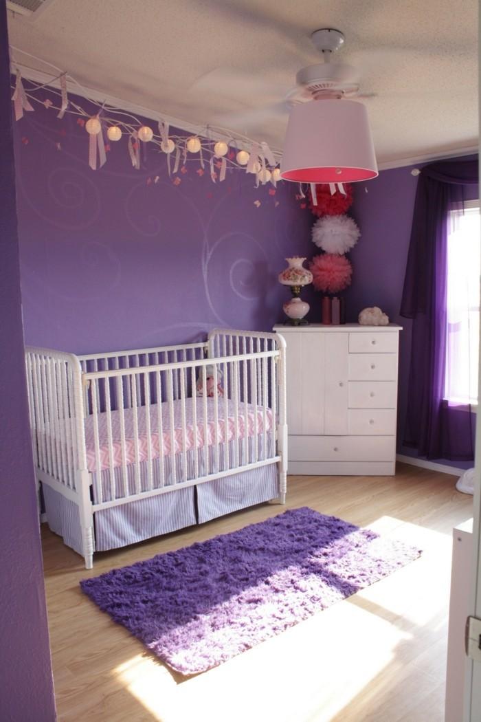 Amazing Die Farbe Lila Babyzimmer Weie Mbelstcke Lila Teppich With Lila  Wandfarbe