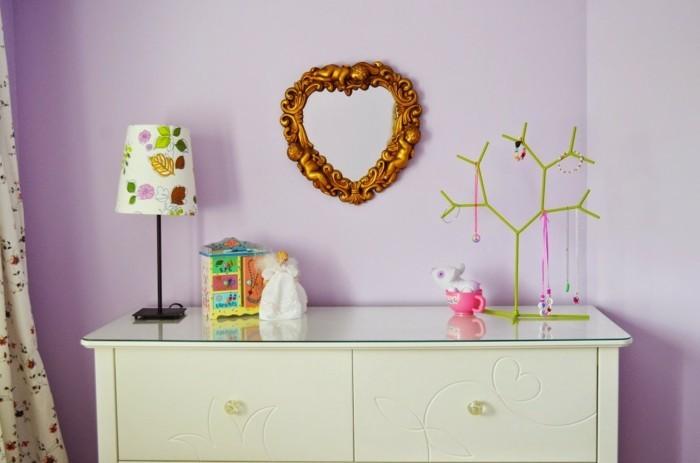 Die Farbe Lila kinderzimmer wandgestaltung ideen