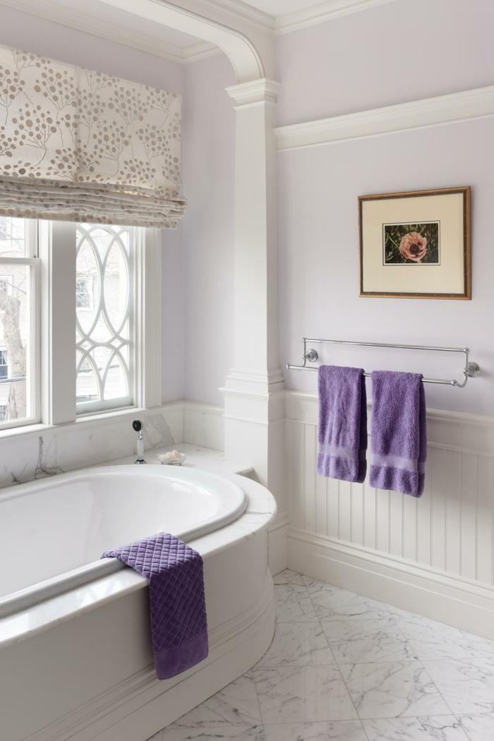 Die Farbe Lila lila tücher badezimmer heller bodenbelag