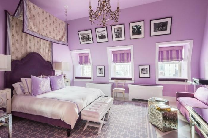 Die Farbe Lila lila wände textilien schöner bodenbelag dachschräge
