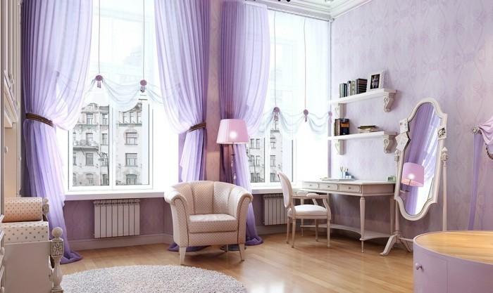 Die Farbe Lila modernes schlafzimmer sanfte farbnuancen