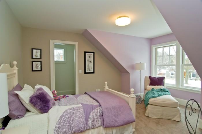 Die Farbe Lila schlafzimmer einrichten helle möbel lila accessoires
