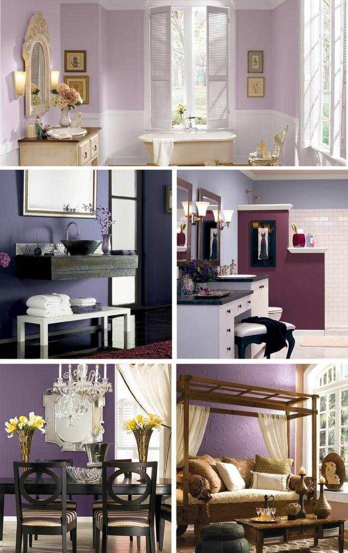 Die Farbe Lila trendige wandfarbe moderne wohnung