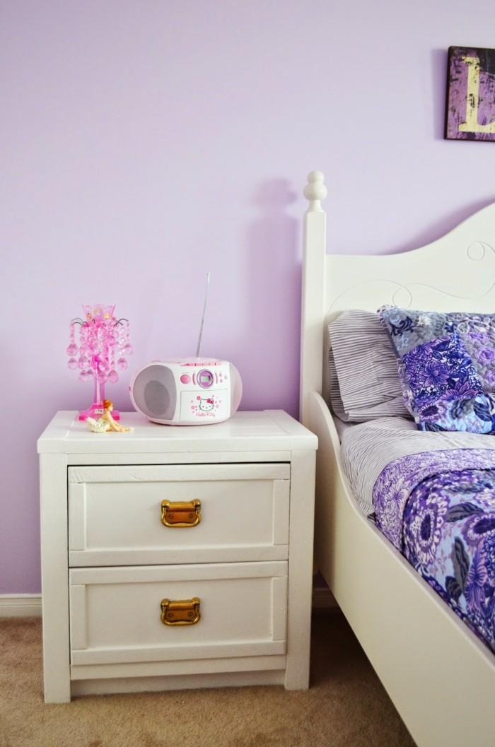 Die Farbe Lila wandfarbe schlafzimmer lila bettwäsche
