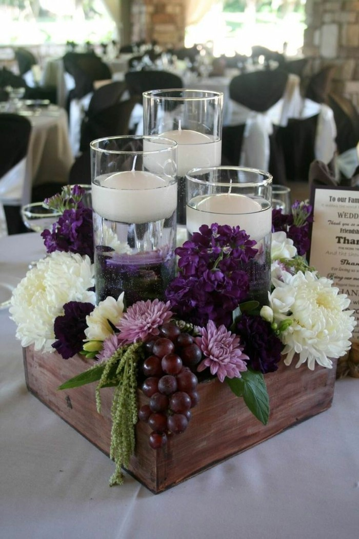 Duftendes Zentralstück mit Naturmaterialien als Tischdekoration