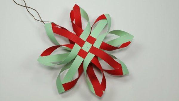 Einfache Stern Weihnachtsdeko selber machen