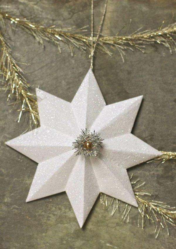 Einfacher Weihnachtsstern Weihnachtsdeko selber machen