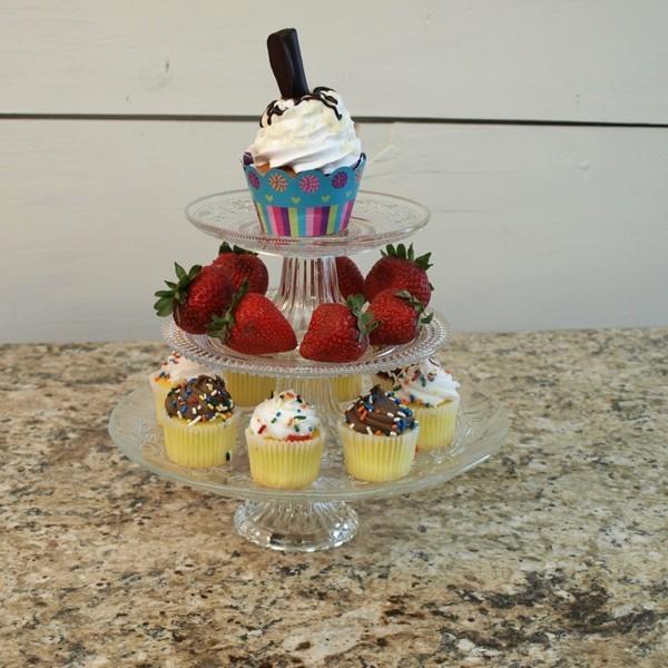 Etagere für Cupcakes glas