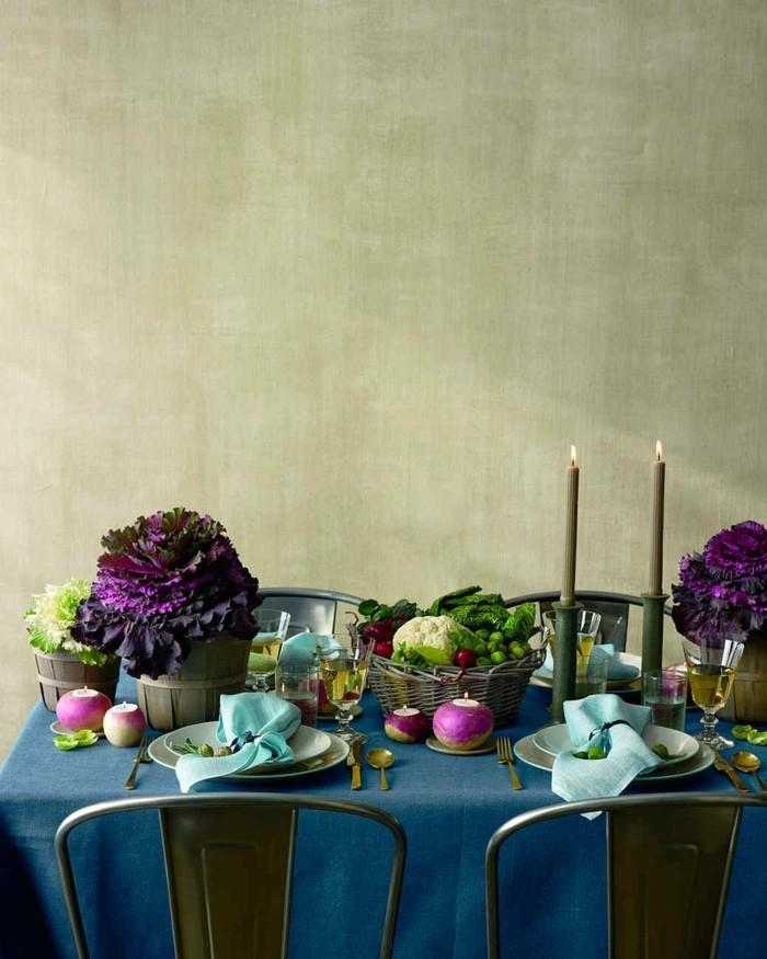 Fabelhafte Tischdekoration mit Gemüse
