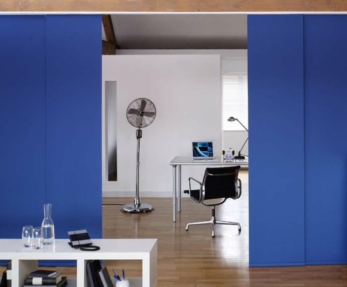 Flächenvorhänge frisch blau raumteiler