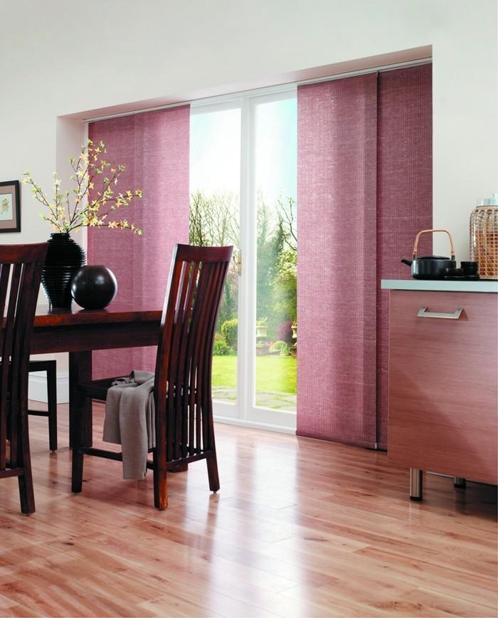 Flächenvorhänge frische farbe schöne textur