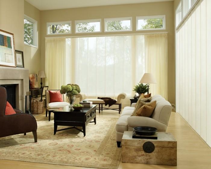 Flächenvorhänge gardinen neutrale farben