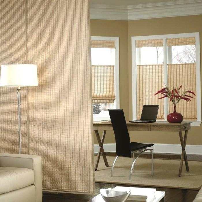 Flächenvorhänge hom office abtrennen vom wohnzimmer