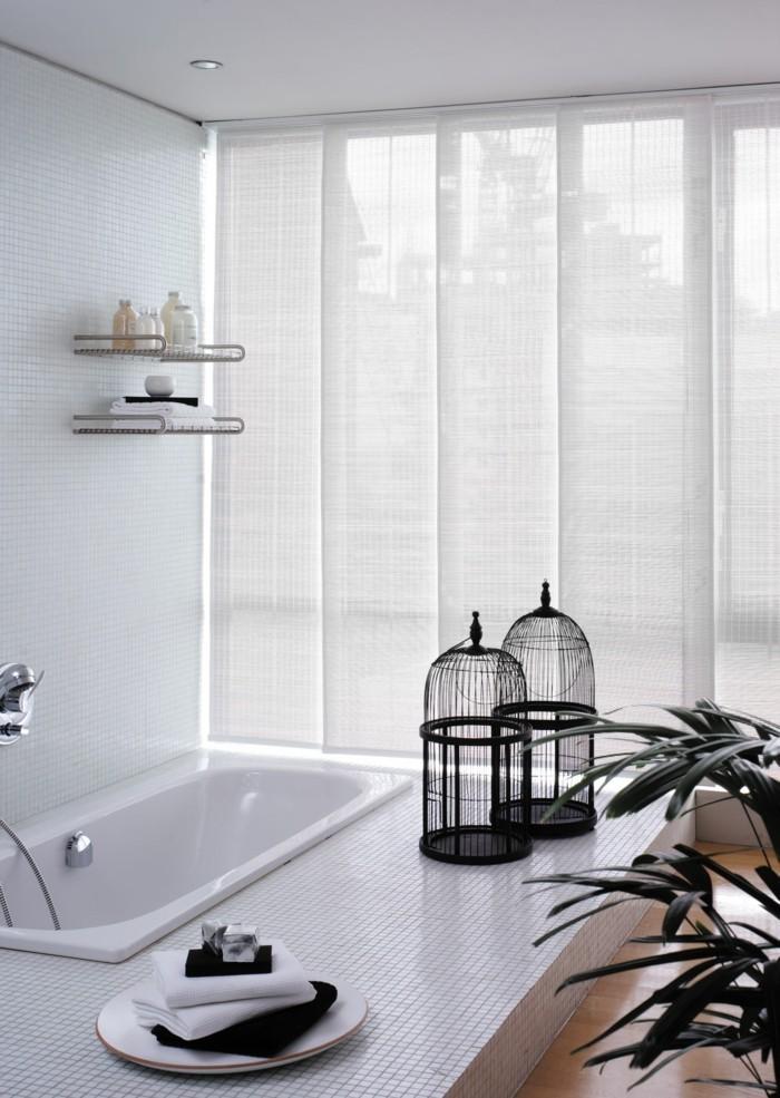 Flächenvorhänge modernes badezimmer weißes interieur