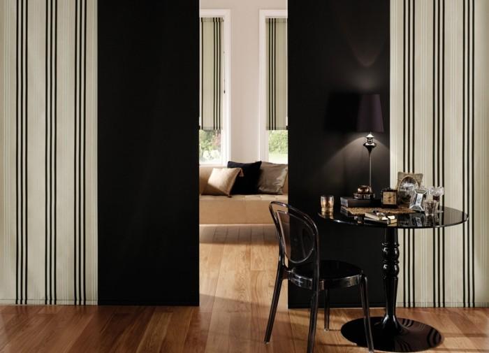 Flächenvorhänge raumteiler schwarz matt moderne ausstrahlung