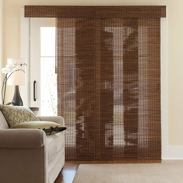 Flächenvorhänge schöne textur braune farbe moderner look