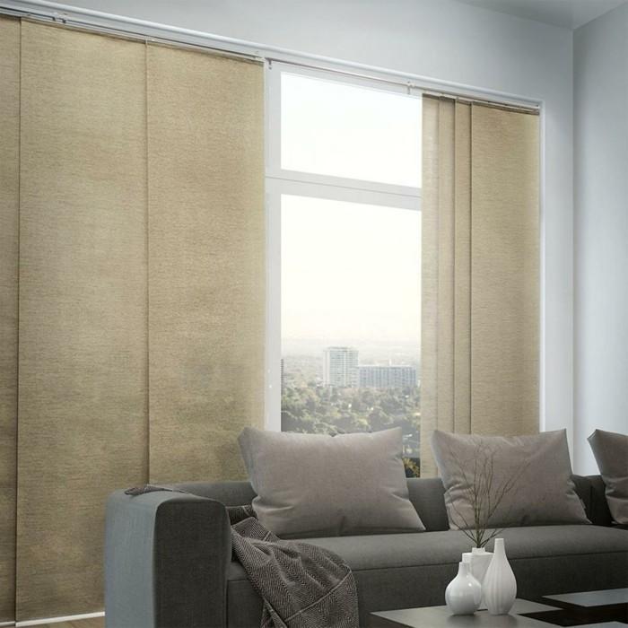 Flächenvorhänge - 40 Beispiele für effektiven Sonnen- und Blickschutz