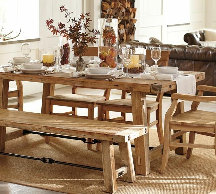 Herbstliche Gaben der Natur Tischdeko rustikal