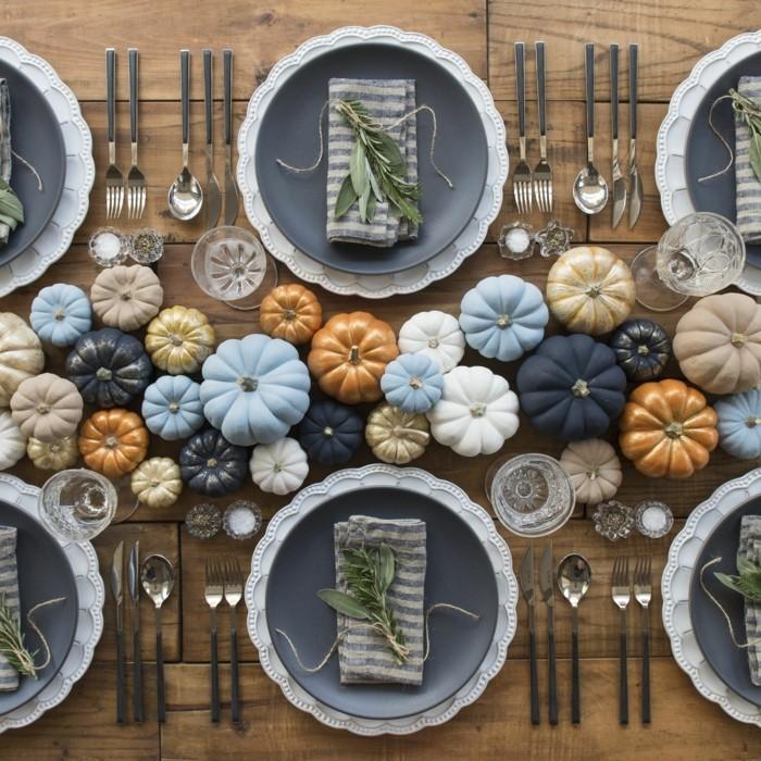 Herbstliche Tischdeko mit selbstgemachten Tischsets