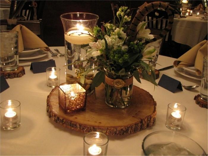 Idee für rustikale Tischsets