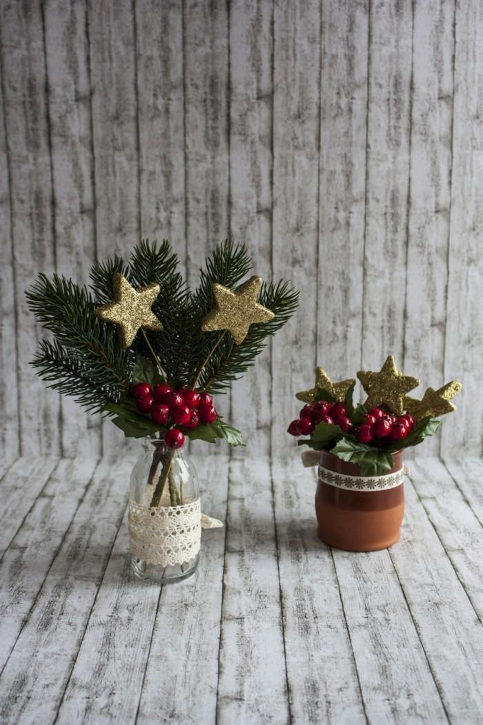 Kleine DIY Ideen für weihnachtliche Tischdekoration